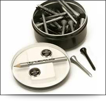 Deluxe Tin of Golf Tees for corporate golf gifts